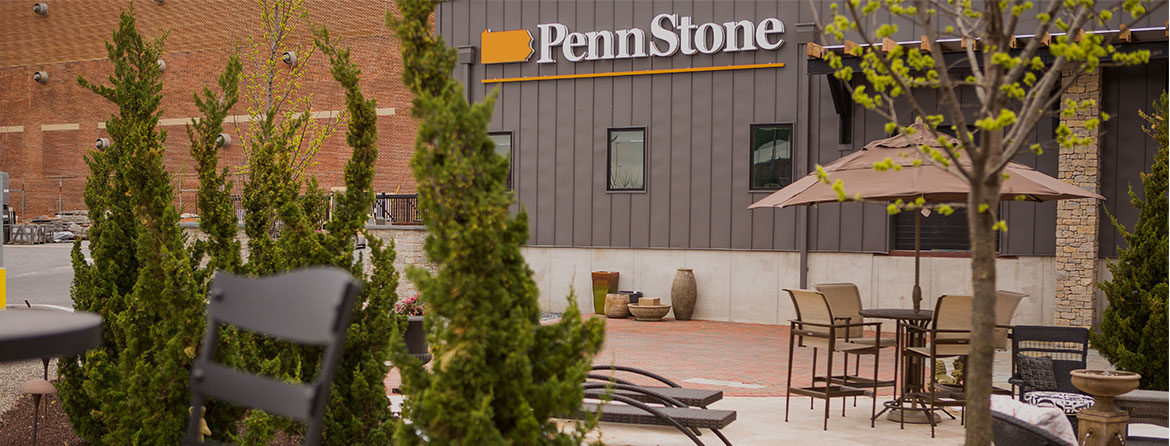 Penn Stone outdoor living showroom