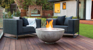 Fire feature trends for your outdoor patio or deck for Brown jordan fires
