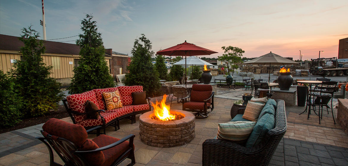 Penn Stone's Outdoor Showroom for fine outdoor living furniture