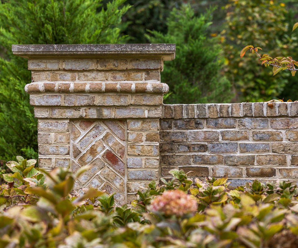 glen gery's lorraine brick for wall and pedestal