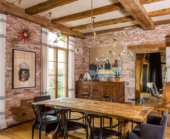 glen gery's lorraine brick - interior exposed brick wall