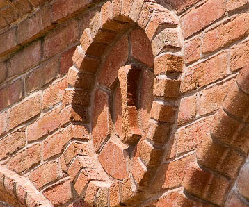 glen gery's monticello handmade brick detail