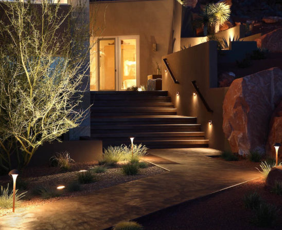 cast lighting for illuminating your landscaping and walkway
