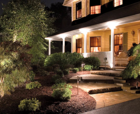 cast lighting for home protection for porch and landscape lighting