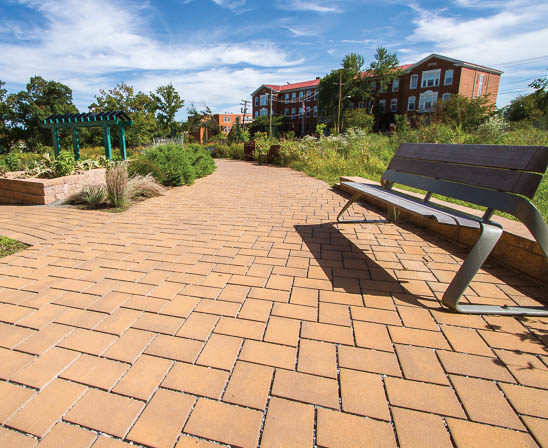 EP Henry eco-cobble pavers in harvest blend