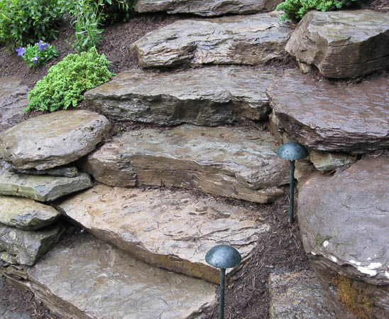 everlast stone fieldstone risers making natural stone staircase