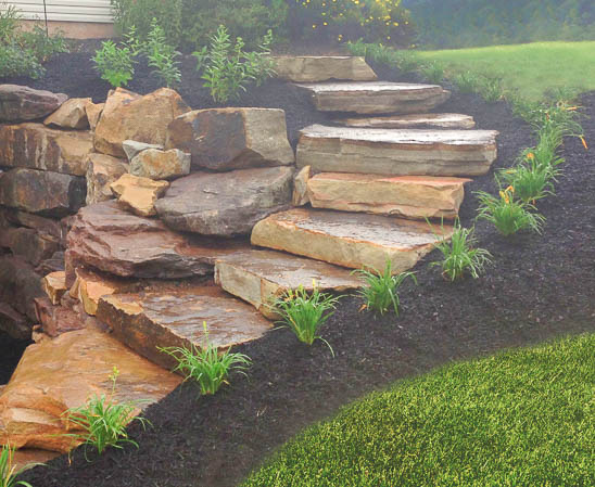 Everlast stone laurel mountain slabs making stone staircase