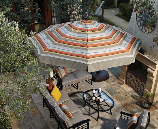 treasure garden akz cantilever umbrella in striped fabric
