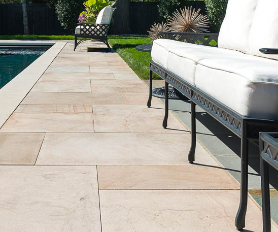Unilock's natural stone in indian coast finish