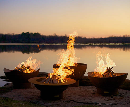 multiple fire pits in various designs