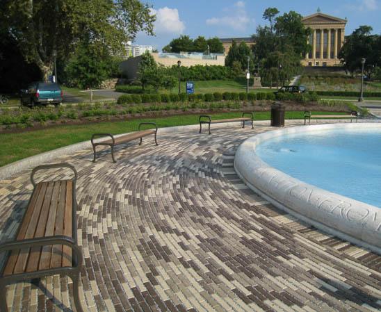 whitacre greer boardwalk brick pavers Philadelphia museum of art