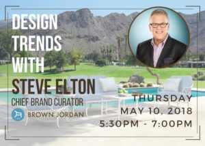 outdoor furniture design trends presentation by brown jordan's steve elton on may 10 2018
