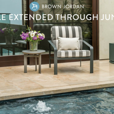brown jordan softscape lounge chair on sale during the spring sales event