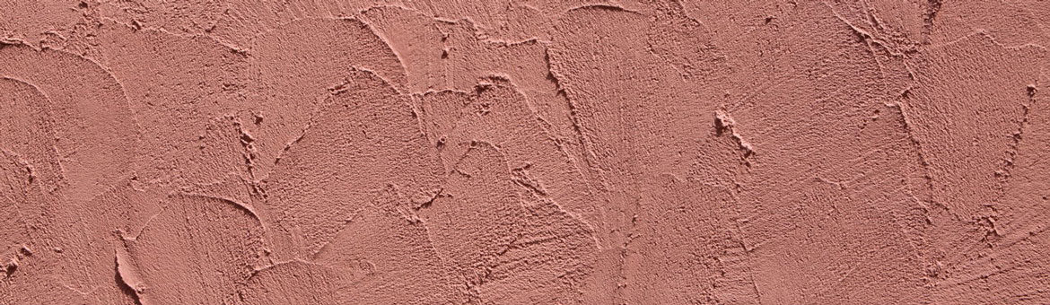 terracotta stucco with heavy trowel texture