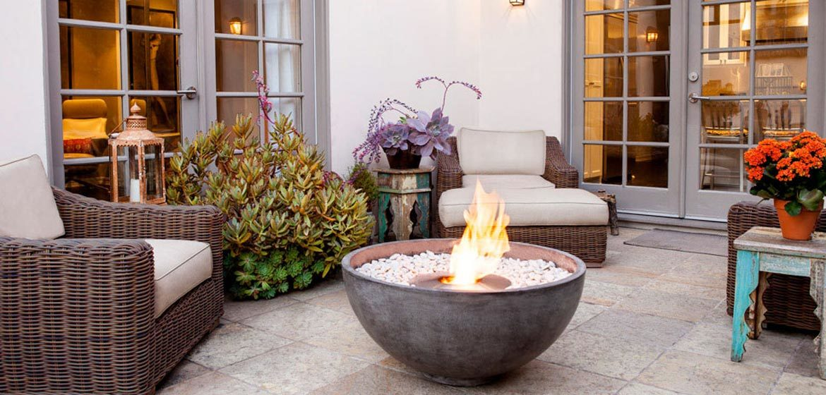brown jordan fires urth fire bowl with ecosmart ab8 bioethanol burner