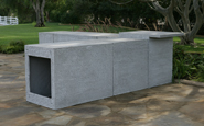 eldorado outdoor kitchen cabinets with scratch coat