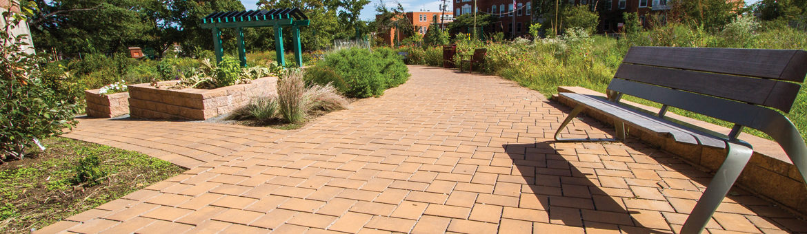 ep henry eco cobble permeable concrete pavers in harvest blend color at calvin coolidge high school