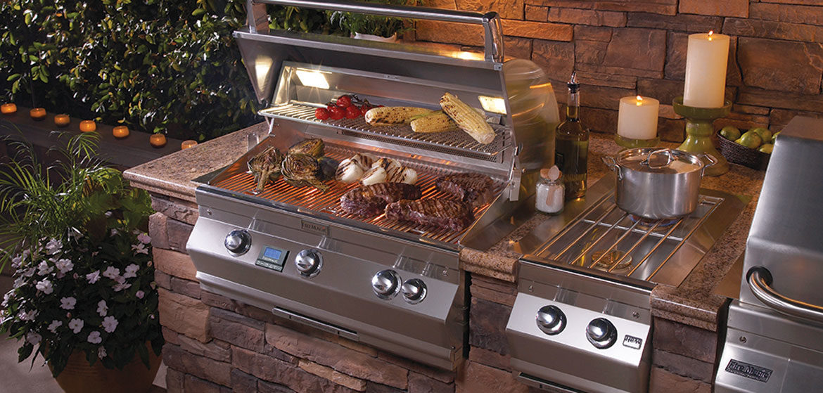 fire magic grill aurora a660 built in grill with side burner