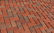 glen gery brick repressed chamfered clay brick paver blend with k&w red and cypress at lafayette college