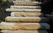 meshoppen natural stone steps west mountain thermalled and rockfaced