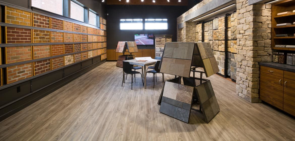 penn stone showroom for stone and brick selections