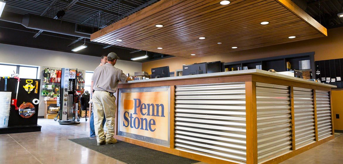 penn stone contractor sales counter and masonry and hardscaping tool showroom
