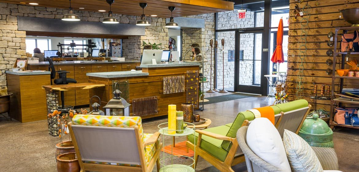 penn stone outdoor furniture and outdoor living showroom