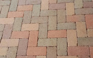 Pine Hall rumbled brick pavers - 4 color blend.