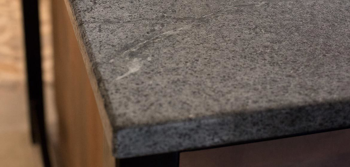 alberene soapstone countertop outdoor kitchen