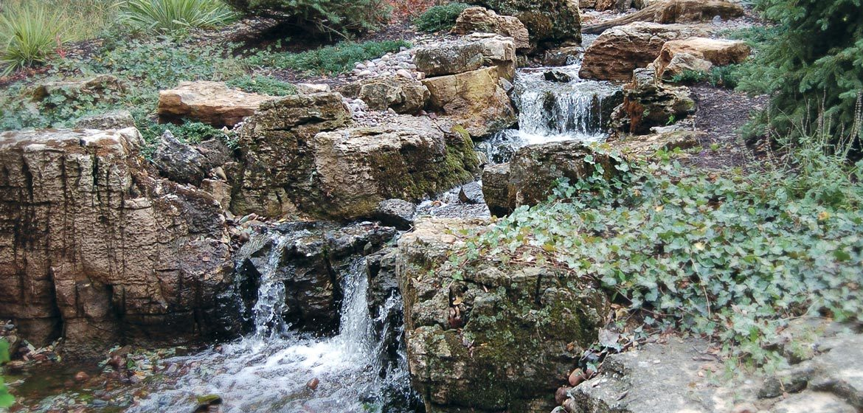 semco stone weathered limestone boulders cascading waterfall