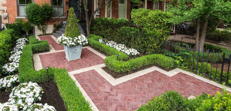 unilock copthorne three color blend concrete paver patio
