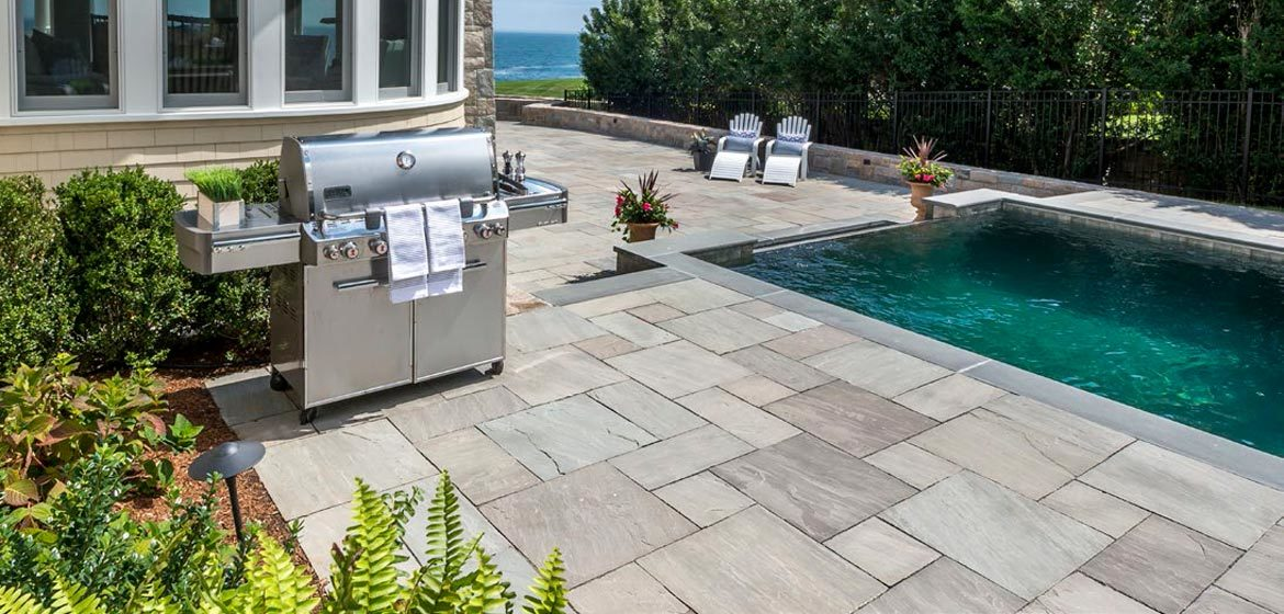 unilock natural stone flagstone stone cliff grey
