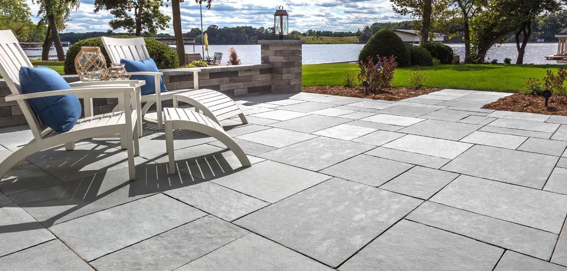 unilock natural stone flagstone winter mist