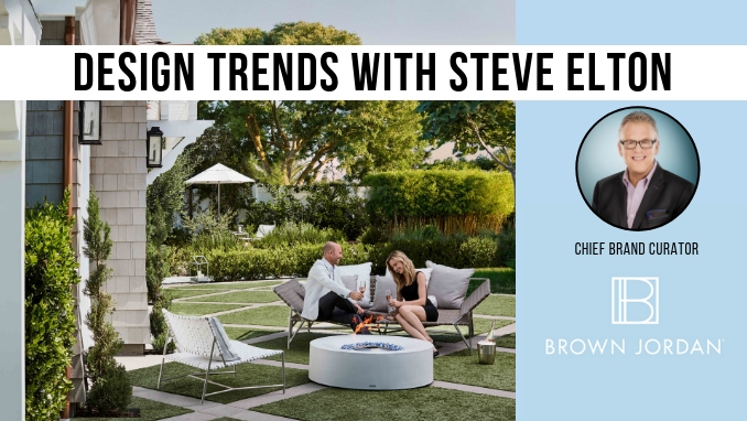 on march 7 penn stone will host a presentation on outdoor furniture design trends by steve elton from brown jordan