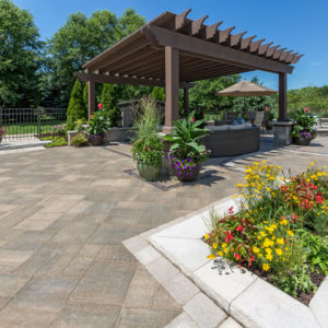 patio hardscape with pergola