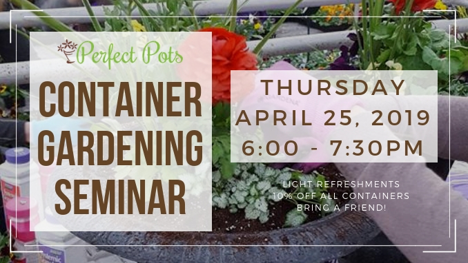 penn stone will host a container gardening seminar on thursday april 25 presented by perfect pots