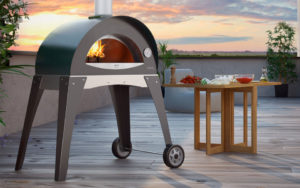 ALFA Ciao pizza oven on patio