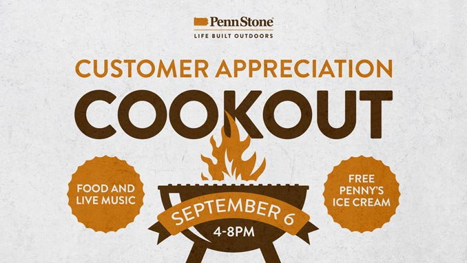 on friday september 6 penn stone will host their annual customer appreciation celebration
