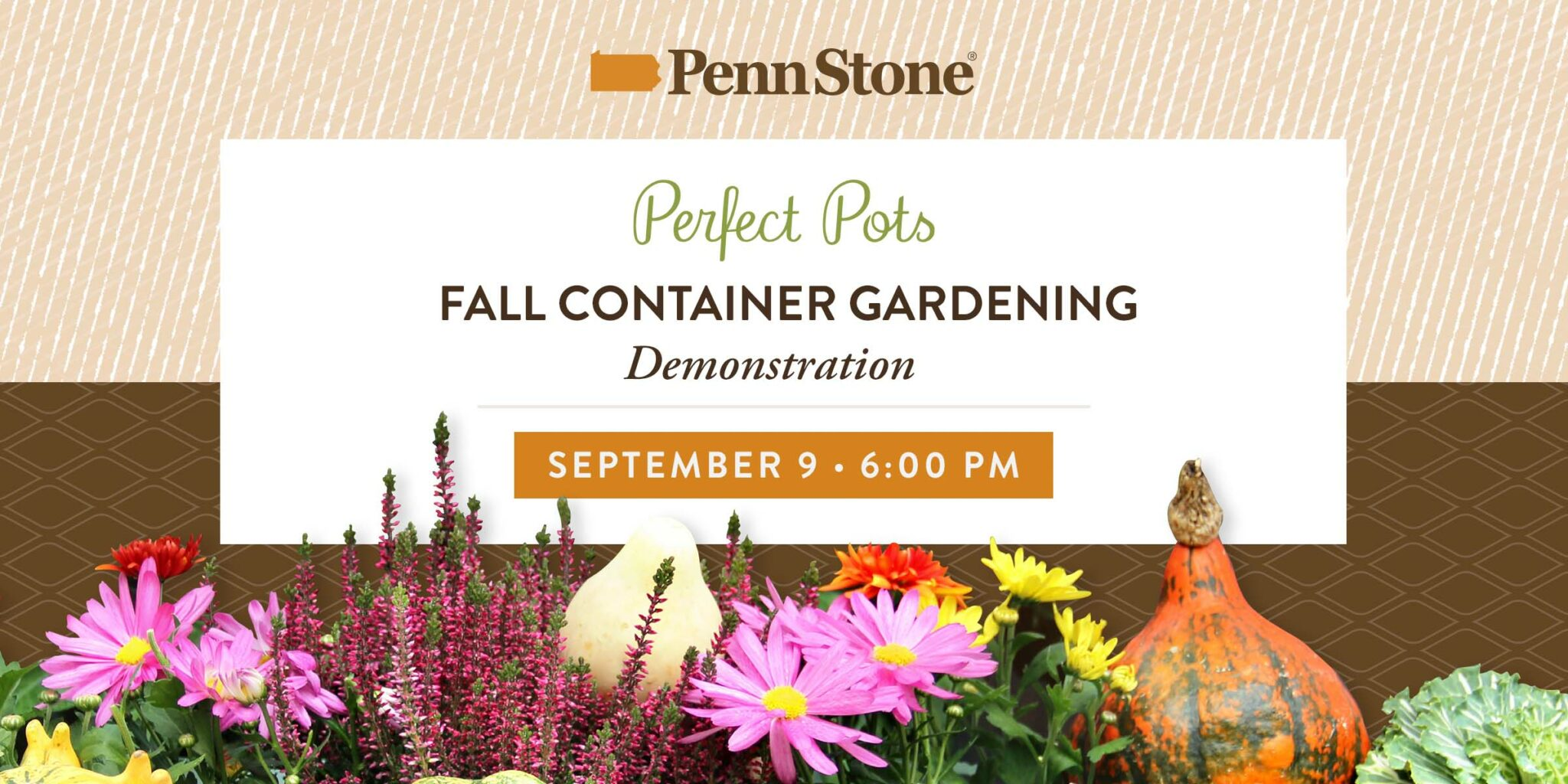 on september penn stone will host a fall container gardening demonstration featring laura lapp from perfect pots